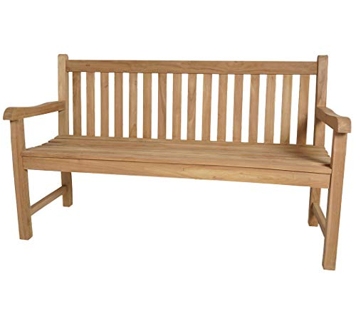 3-sitzer Gartenbank Holz, Teak, 150 cm, klassisches Design